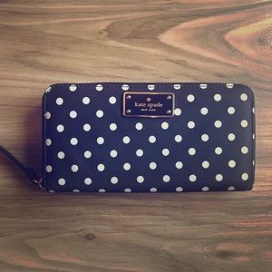 Kate Spade Nylon Polka Dot Wallet